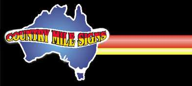 country mile signs logo